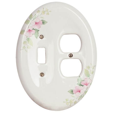 Lenape Classic Electrical Combination Switchplate - Porcelain in Rose
