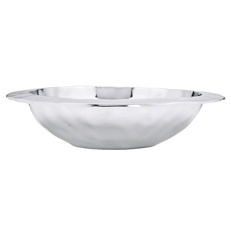 "Lenox Organics Collection Rimmed Serving Bowl - 15"", Metal in See Photo"