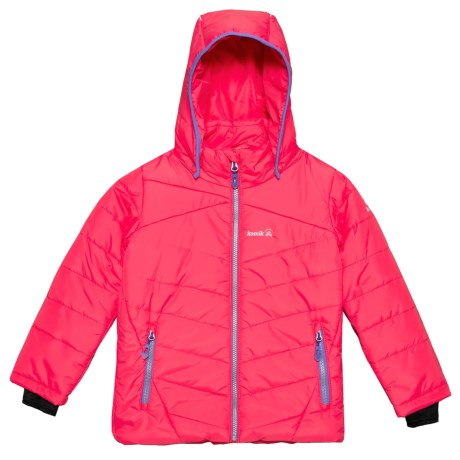 Leona Ski Jacket - Waterproof, Insulated (For Girls) - ROUGE (12 )