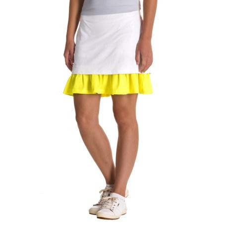 L'Etoile Sport Hidden Pleated Skort - Built-In Shorts (For Women) in White/Neon