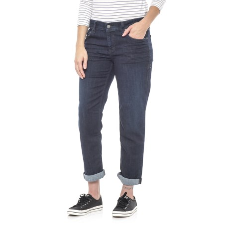 Level 99 Mid Wash Skinny Boyfriend Jeans - Relaxed Fit (For Women) in Cache