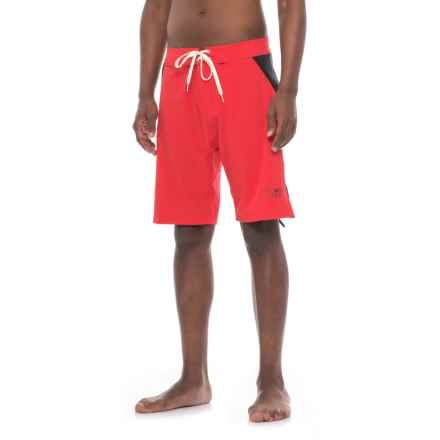 Level Six A-Frame Swim Shorts (For Men) in True Red - Closeouts