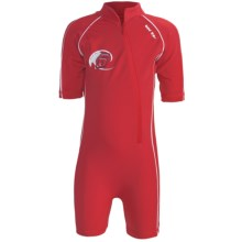 Level Six Apollo Sunsuit - UPF 50+, Elbow Sleeve (For Boys) in Bright Red - Closeouts