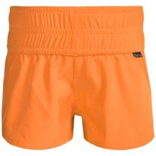 Level Six Azlyn Surf Shorts (For Little and Big Girls) in Apricot - Closeouts