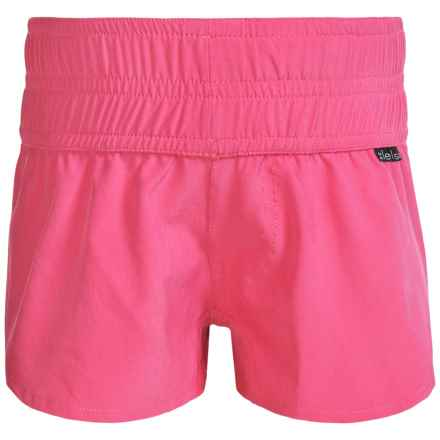 Level Six Azlyn Surf Shorts (For Little and Big Girls) in Honey Suckle - Closeouts