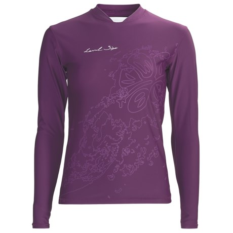 Level Six Coastal Rash Guard Shirt - UPF 50+, Loose Fit, Long Sleeve (For Women) in Violet