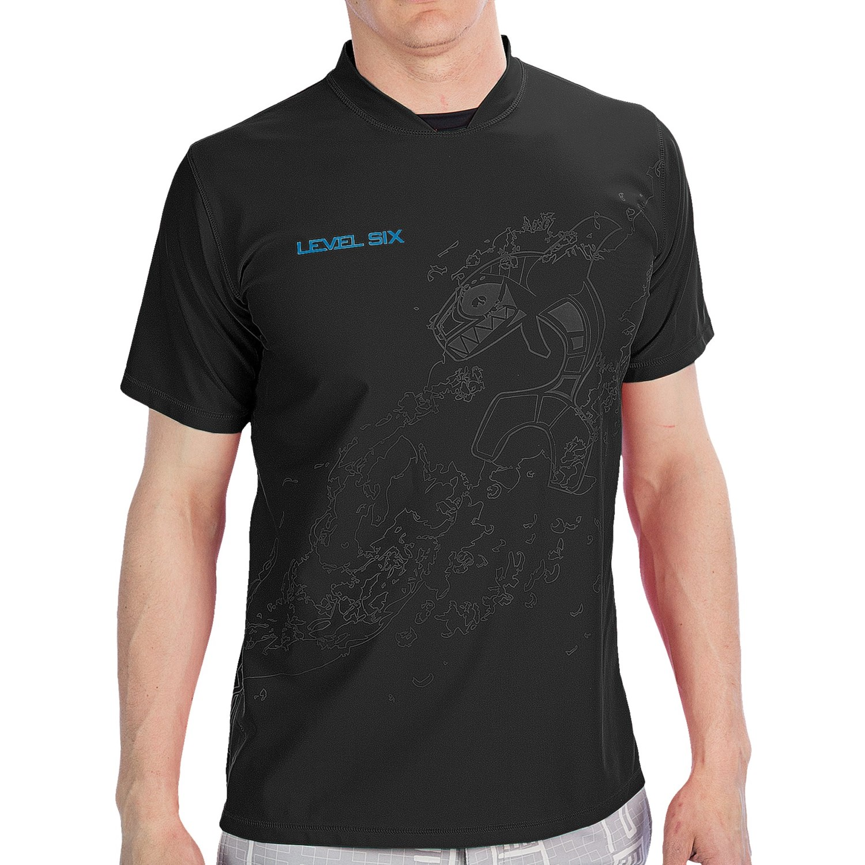 Level Six Coastal Rash Guard Shirt Upf 50 Loose Fit
