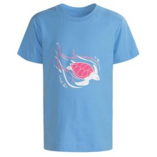 Level Six Cruisin Turtle T-Shirt - Organic Cotton, Short Sleeve (For Girls) in Blue Glacier - Closeouts