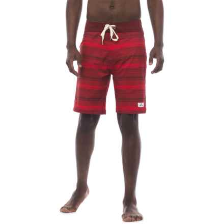 Level Six Elwood Boardshorts (For Men) in Red Stripes - Closeouts