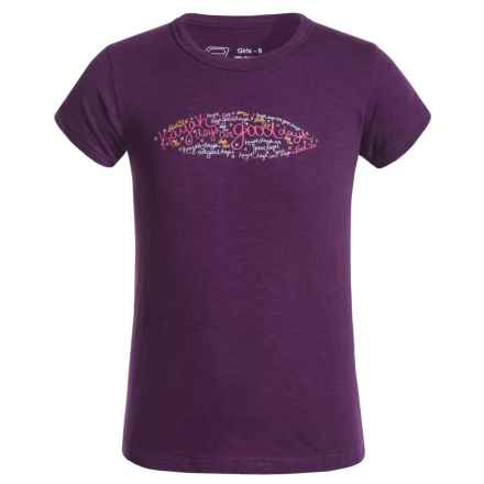Level Six Good Day T-Shirt - Organic Cotton, Short Sleeve (For Big Girls) in Grape Juice - Closeouts