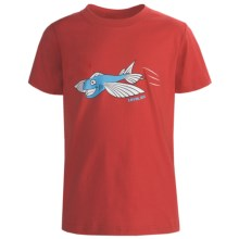 Level Six In Flight Fish T-Shirt - Organic Cotton, Short Sleeve (For Boys) in Bright Red - Closeouts