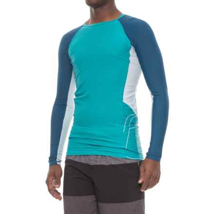 Level Six Mercury Rash Guard - UPF 50+, Long Sleeve (For Men) in Laguna Blue - Closeouts