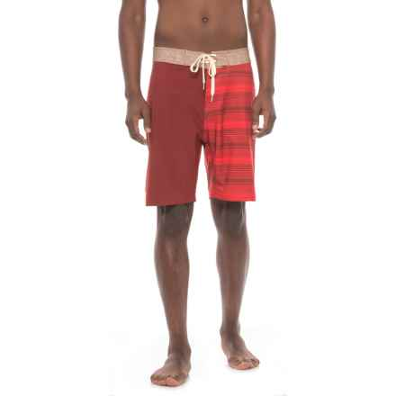 Level Six Presley Swim Shorts (For Men) in Red Stripes - Closeouts