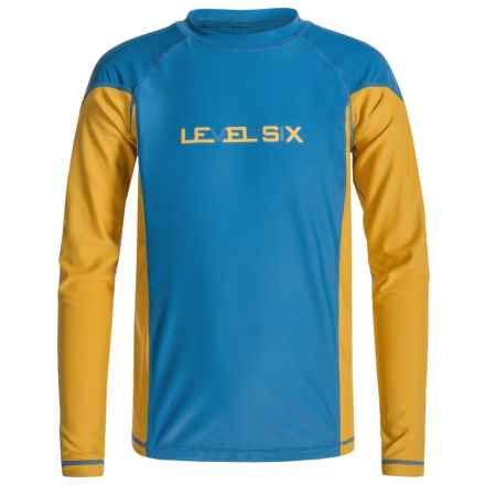 Level Six Slater Rash Guard Shirt - UPF 50+, Long Sleeve (For Boys) in Level Six Vallarta Blue - Closeouts