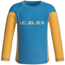 Level Six Slater Rash Guard - UPF 50+, Long Sleeve (For Little and Big Boys) in Vallarta Blue - Closeouts