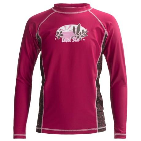 Level Six Stella Rash Guard Shirt - UPF 50+, Long Sleeve (For Girls) in Cerise
