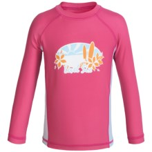 Level Six Stella Rash Guard - UPF 50+, Long Sleeve (For Little and Big Girls) in Honey Suckle - Closeouts
