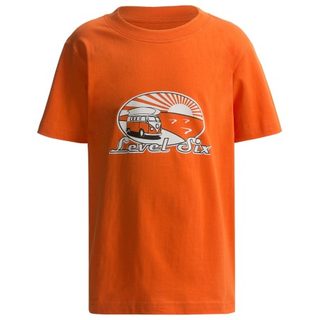 Level Six Surf Van T-Shirt - Organic Cotton, Short Sleeve (For Boys) in New Orange