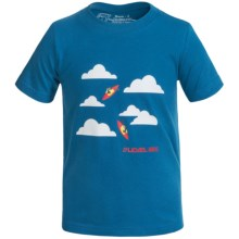 Level Six Surf's Up T-Shirt - Organic Cotton, Short Sleeve (For Boys) in Vallarta Blue W/Kayaks - Closeouts