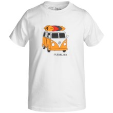 Level Six Surf's Up T-Shirt - Organic Cotton, Short Sleeve (For Boys) in White - Closeouts