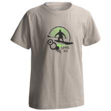 Level Six Surf's Up T-Shirt - Organic Cotton, Short Sleeve (For Little and Big Boys) in Grey - Closeouts