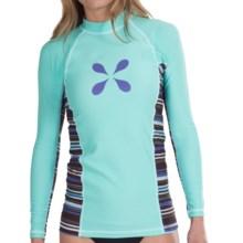 Level Six Venus Rash Guard Shirt - UPF 50+, Long Sleeve (For Women) in Aqua Sky - Closeouts