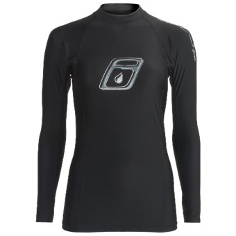 Level Six Venus Rash Guard Shirt - UPF 50+, Long Sleeve (For Women) in Black