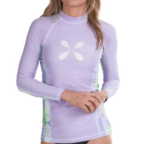 Level Six Venus Rash Guard Shirt - UPF 50+, Long Sleeve (For Women) in Crystal