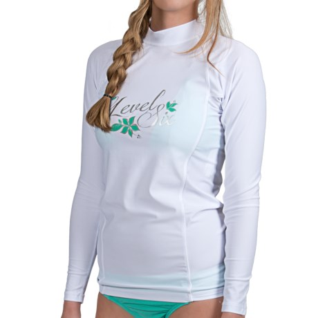 Level Six Venus Rash Guard Shirt - UPF 50+, Long Sleeve (For Women) in White