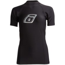 Level Six Venus Rash Guard Shirt - UPF 50+, Short Sleeve (For Women) in Black - Closeouts