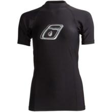 Level Six Venus Rash Guard Shirt - UPF 50+, Short Sleeve (For Women) in Black - Closeouts