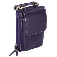 Levenger Carezza Two-Strap iPhone® 5 Case - Leather in Eggplant - Closeouts