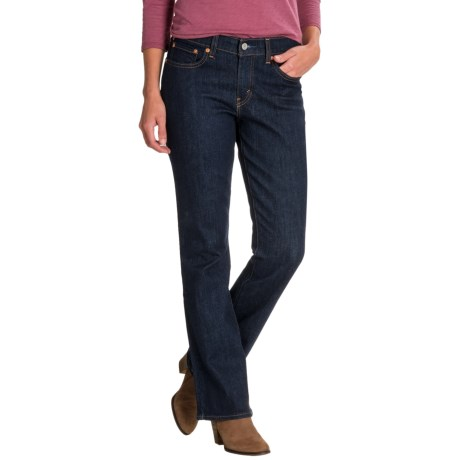 Levi's 415 Relaxed Bootcut Jeans - Mid Rise (For Women) in Dark Grove
