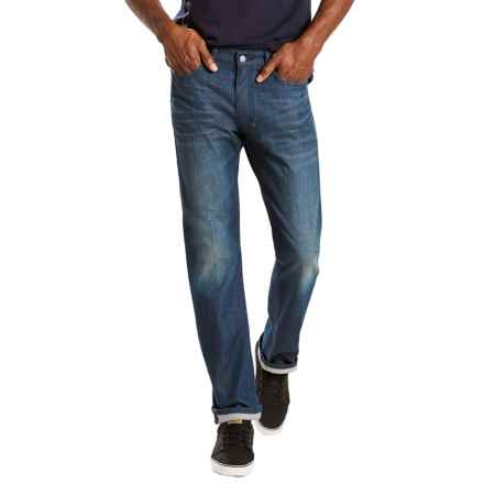 Levi's 513 Slim Straight Stretch Jeans - Straight Leg (For Men) in Herbaceous - Closeouts