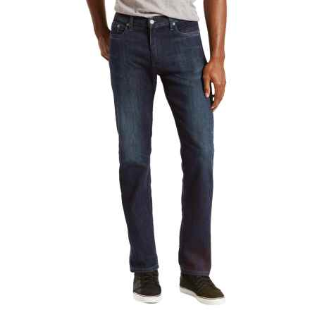 Levi's 513 Slim Straight Stretch Jeans - Straight Leg (For Men) in Moonlight Worn - Closeouts