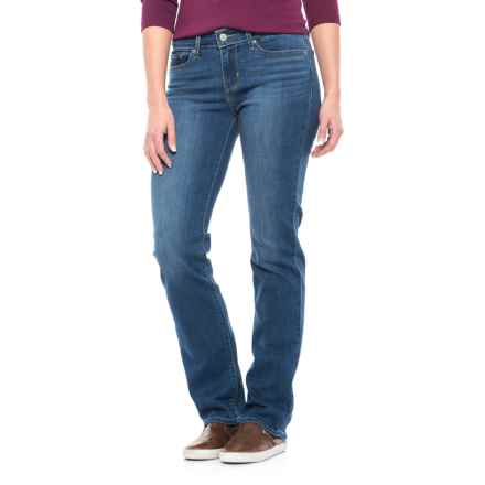 Levi's 714 Stretch Jeans - Straight Leg (For Women) in Honest Blue - Closeouts
