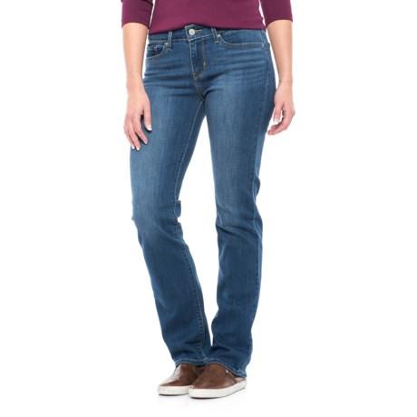 Levi's 714 Stretch Jeans - Straight Leg (For Women) in Honest Blue