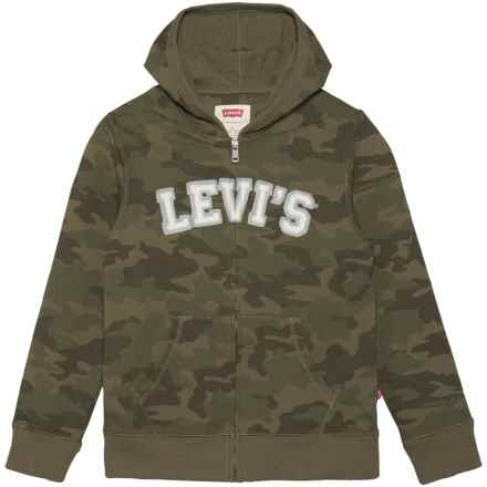 Levi's Baldwin Hoodie - Full Zip (For Big Boys) in Olive Night - Closeouts