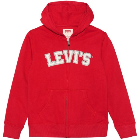 Levi's Baldwin Hoodie - Full Zip (For Big Boys) in Pompeian Red