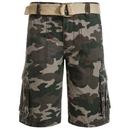 Levi's Belted Ripstop Cargo Shorts (For Little Boys) in Camo - Closeouts