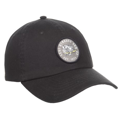 Levi's Camo Washed Baseball Cap with Patch (For Men) in Black
