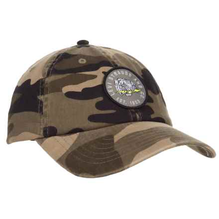 Camo Washed Baseball Cap with Patch (For Men) in Camo - Closeouts