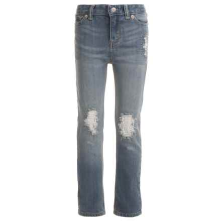 Levi's Destructed Boyfriend Jeans (For Little Girls) in Repaired Indigo - Closeouts