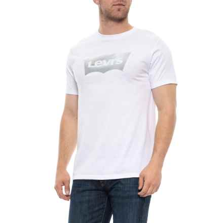 Foil Silver Batwing T-Shirt - Short Sleeve (For Men) in White - Closeouts