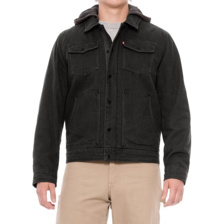 Levi's Heavy Cotton Canvas Jacket - Insulated (For Men) in Black