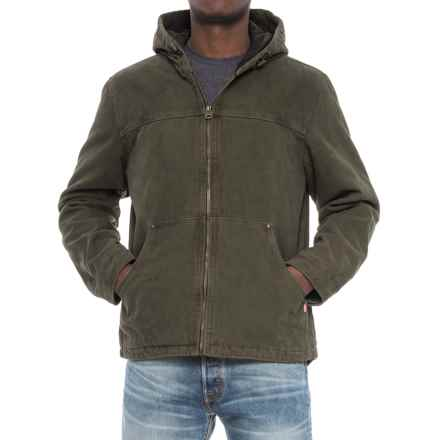 Levi's Heavy Cotton Canvas Jacket - Insulated Hood (For Men) in Olive - Closeouts