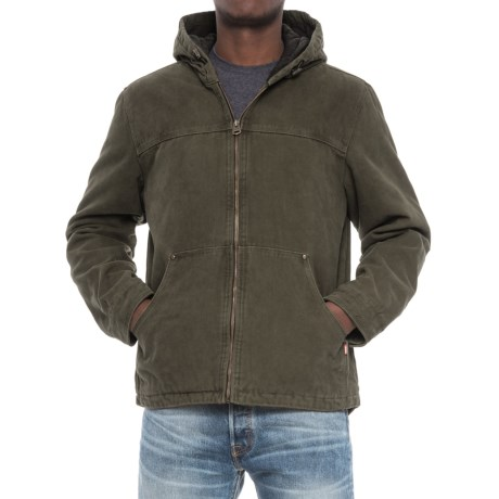 Levi's Heavy Cotton Canvas Jacket - Insulated Hood (For Men) in Olive