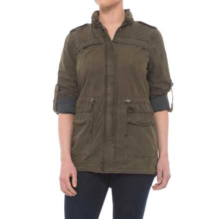 Levi's Levi's Lightweight Fishtail Anorak Jacket - Cotton (For Women) in Army Green - Closeouts
