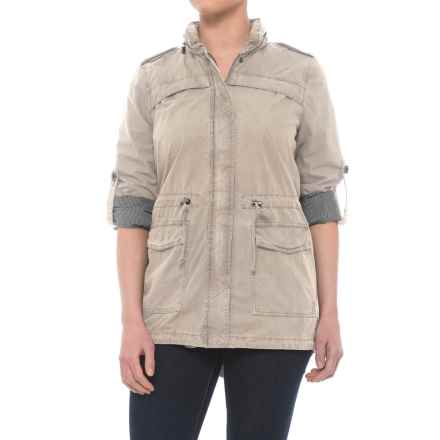 Lightweight Fishtail Anorak Jacket - Cotton (For Women) in Moonbeam - Closeouts