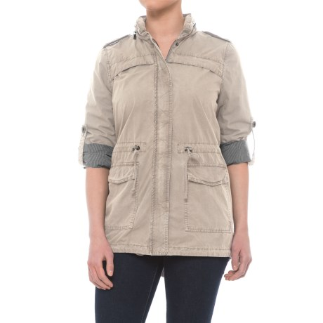 Levi's Lightweight Fishtail Anorak Jacket - Cotton (For Women) in Moonbeam
